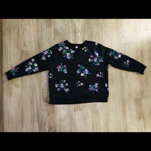 Women's plus size floral print sweater 2X